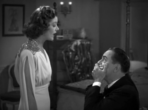 """I suppose I'll have to remind you it's Valentine's Day on February 14th, too!"" Myrna Loy as WordPress. William Powell as Transman."