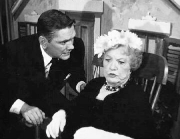 """...and when there's full moon..."" Dick York as Transman and Marion Lorne as the Grandmother."