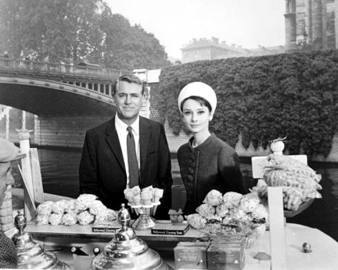 """We'd both like sprinkles!"" Cary Grant as Transman. Audrey Hepburn as his imaginary girlfriend."