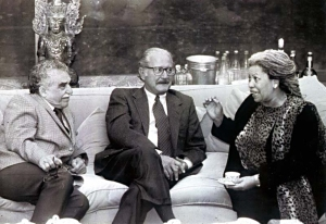With Carlos Fuentes and Toni Morrison.